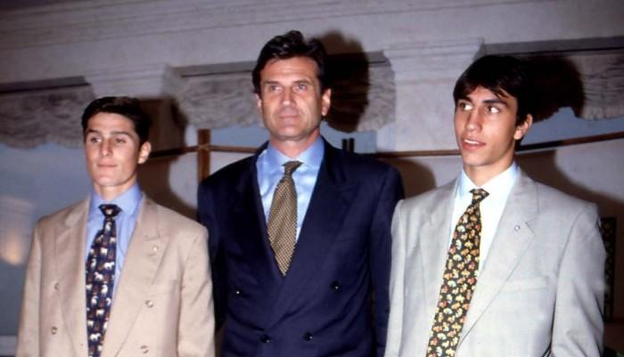 Giugno 1995, Giacinto Faccheti presenta Zanetti e Rambert