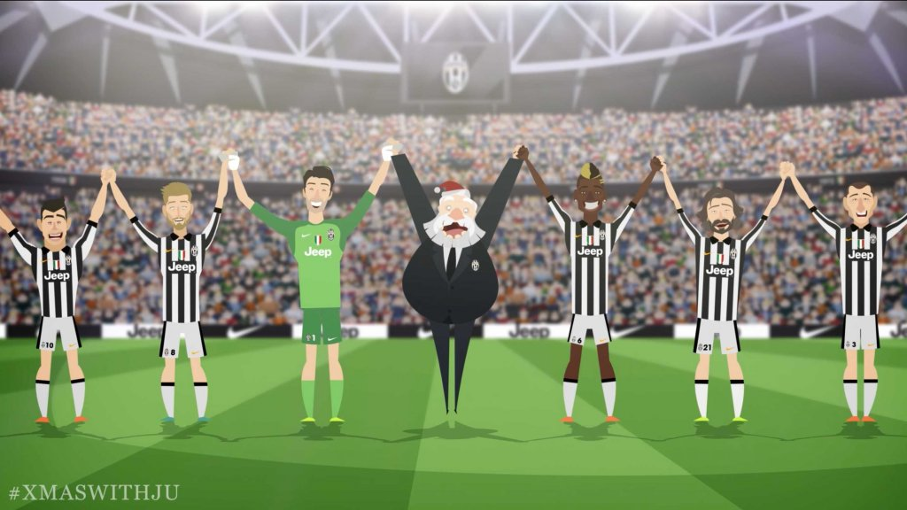 Auguri Di Natale Juventus.Gli Auguri Della Juventus Di Buon Natale Video