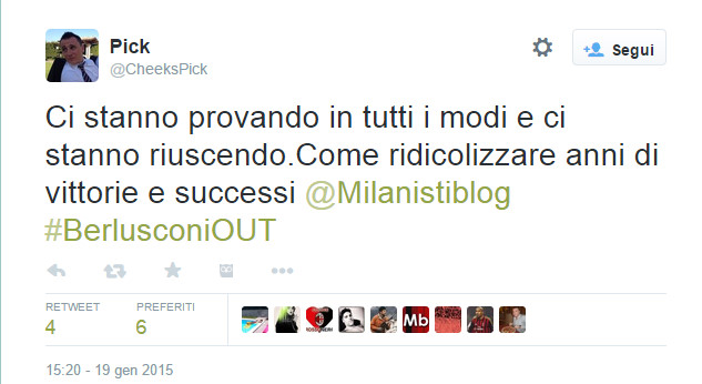 tweet Berlusconi Out