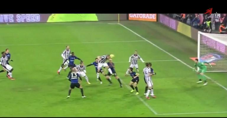 Gol di Llorente in Atalanta-Juventus